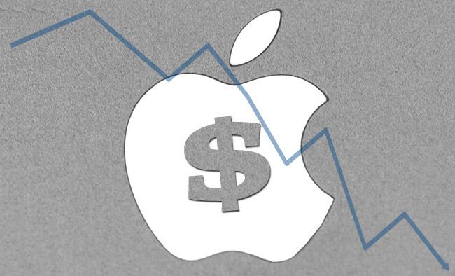 Apples aksjekurs er nå under 400 USD per aksje
