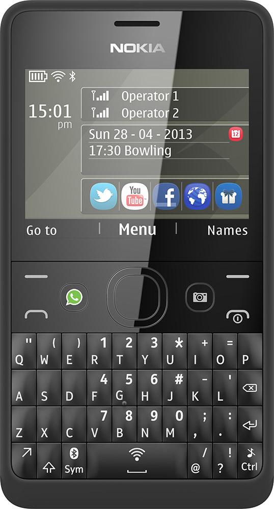 Nokia Asha 210 dual-SIM modellen