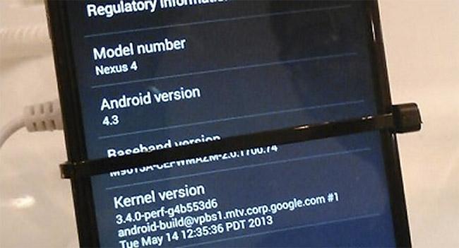 Android 4.3 på Nexus 4