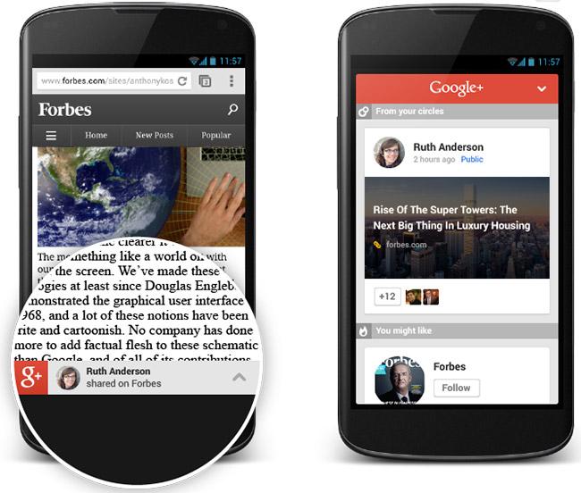 Google Plus Recomendations