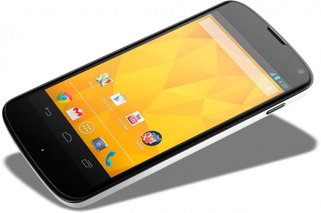 Hvit utgave av Nexus 4