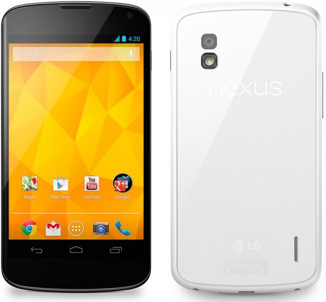 LG Nexus 4 nå i hvit