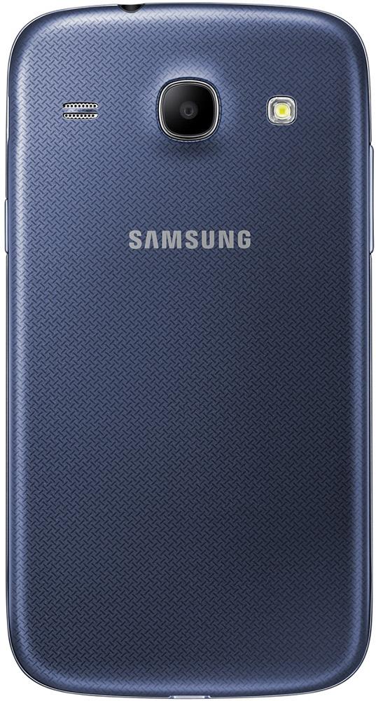 Baksiden av Samsung Galaxy Core Blå