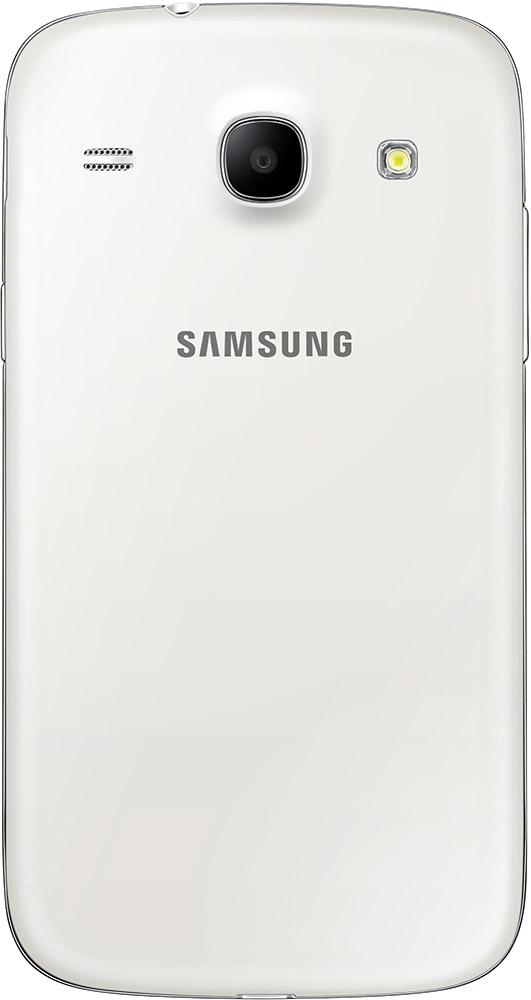 Baksiden av Samsung Galaxy Core hvit