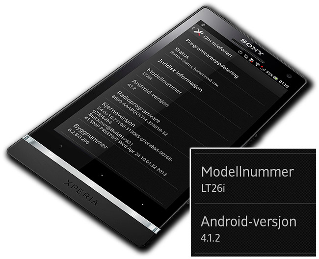 Vi har installert Android 4.1.2 Jelly Bean på Sony Xperia S