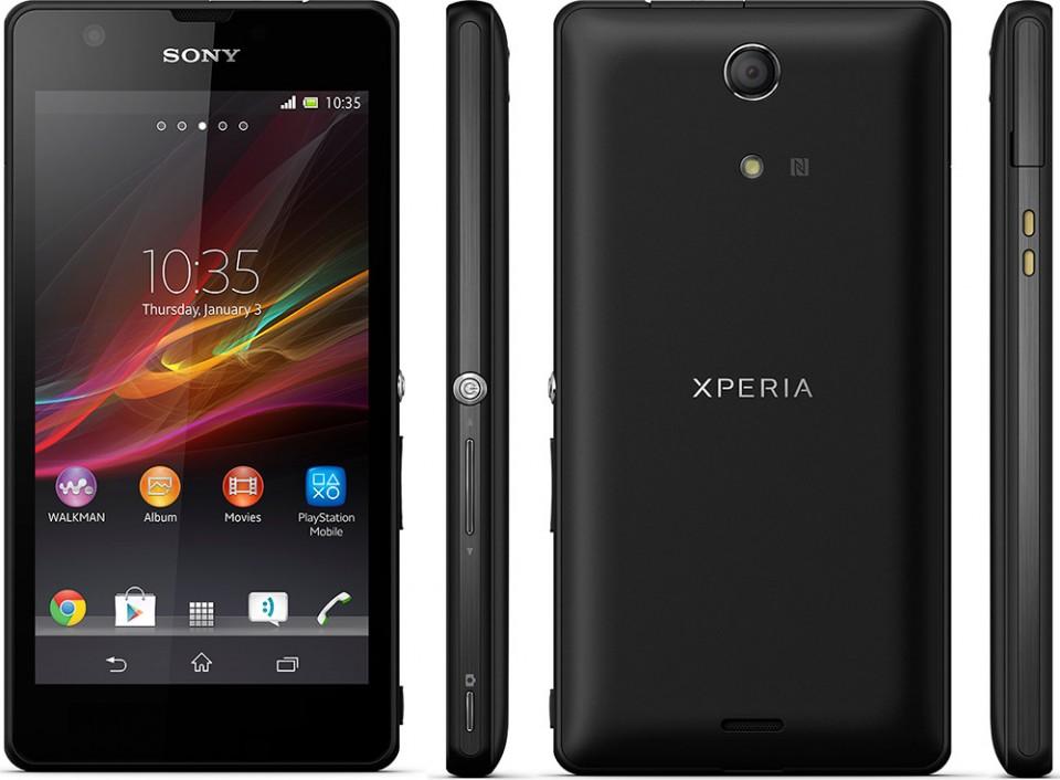 Sony Xperia ZR front og bakside