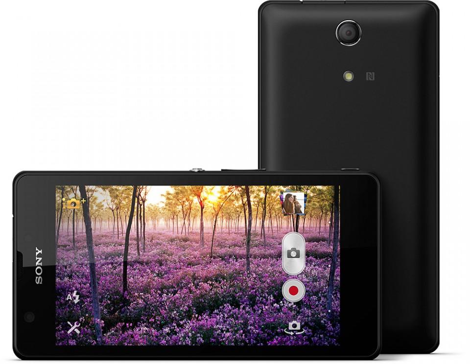 Sony Xperia ZR horisontal og vertikal
