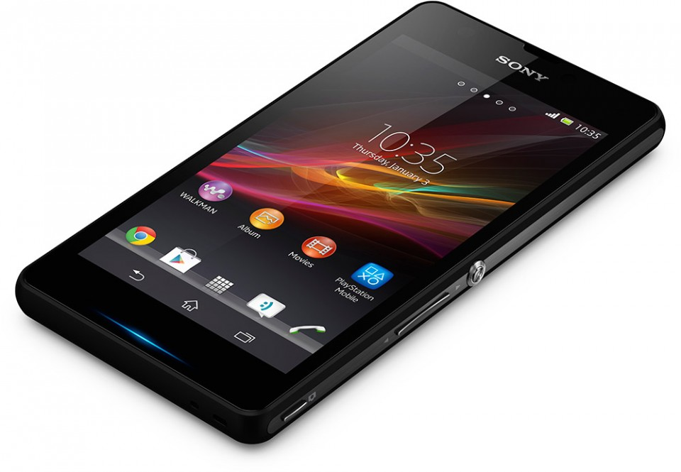 Sony Xperia ZR front liggende
