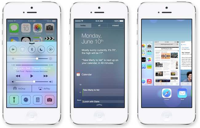 Apple iOS 7 brukergrensesnitt