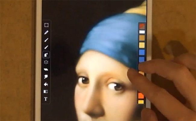 Fingermaling på iPad