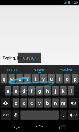 Google Android tastatur for alle Android 4.0 modeller