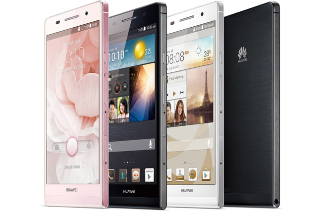 Huawei Ascend P6 annonsert