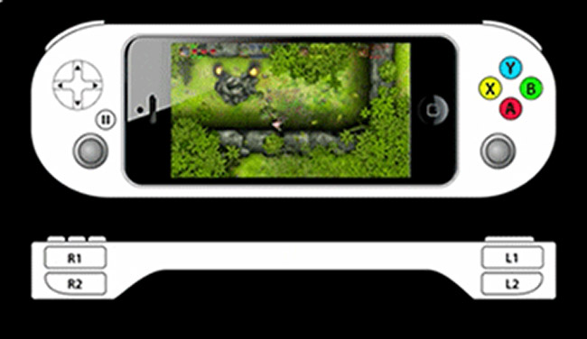 Logitech spillkontroller for iPhone 5