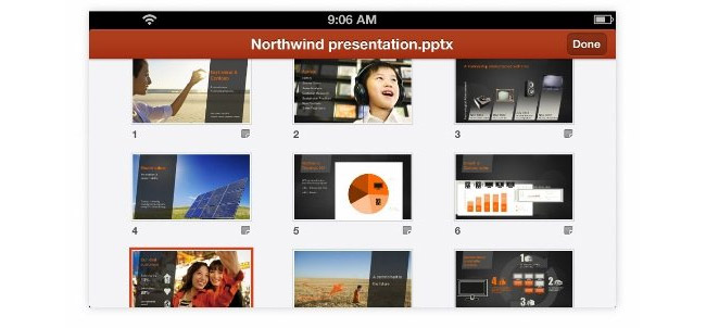 Microsoft Office Mobile for iPhone - Powerpoint