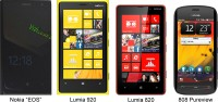 Nokia EOS vs Lumia 920 vs Lumia 820 vs 808 Pureview