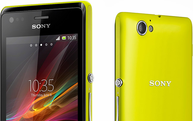 Sony Xperia M annonsert