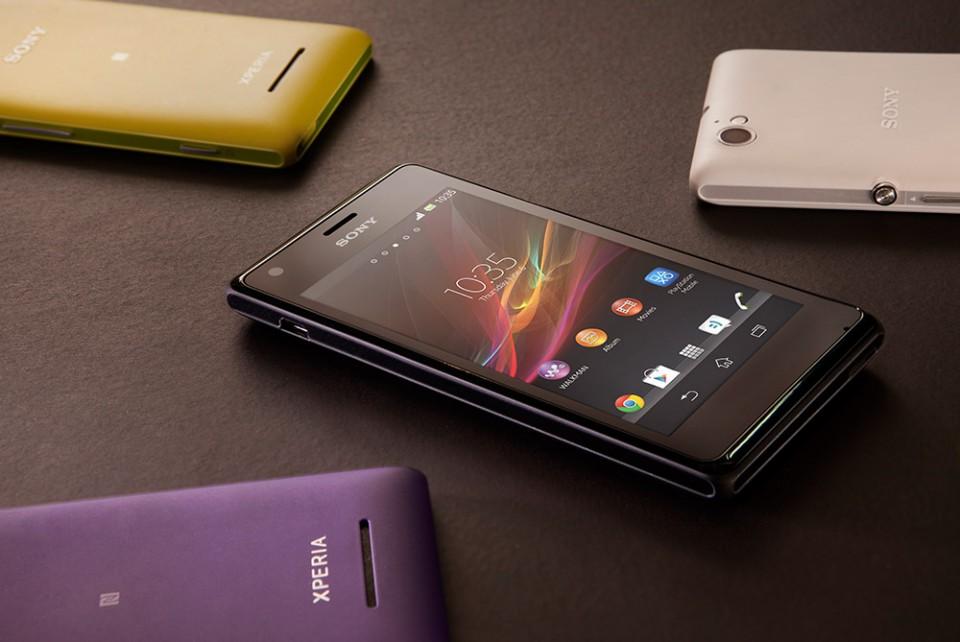 Sony Xperia M fargekombinasjon