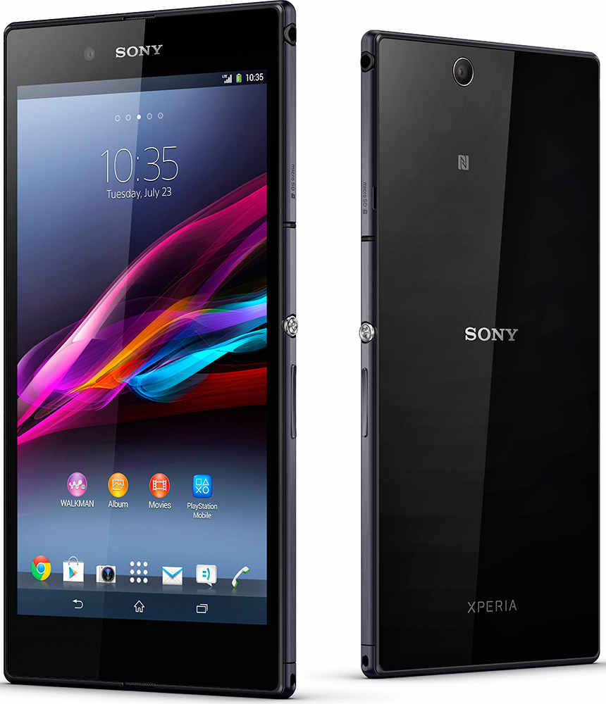 Sony Xperia Z Ultra front og bak stående