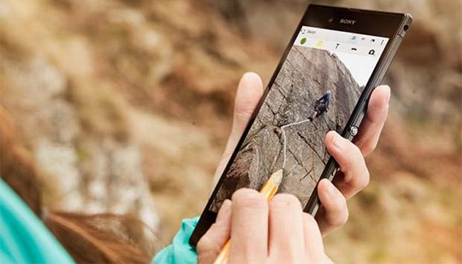 Sony Xperia Z Ultra skriver rett på skjerm