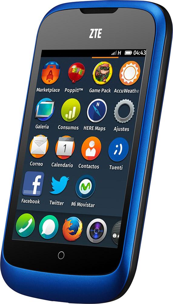 Firefox OS ZTE Open hjemskjerm