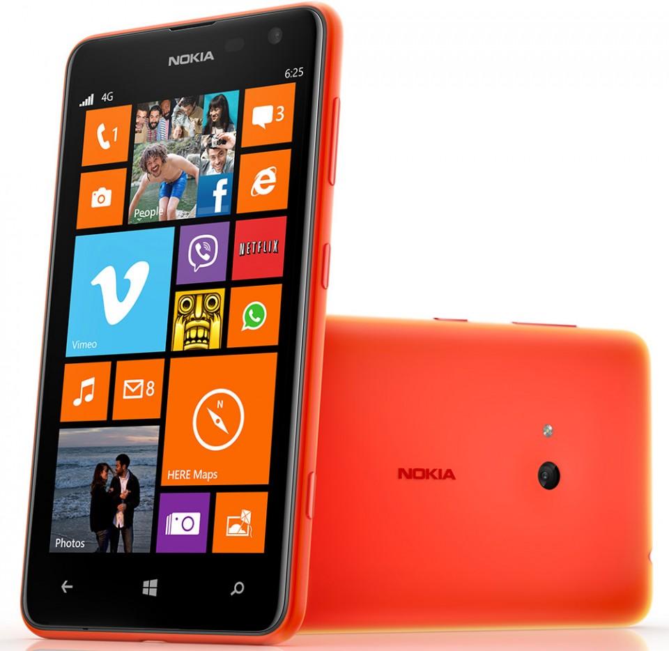 Nokia Lumia 625 i rødt