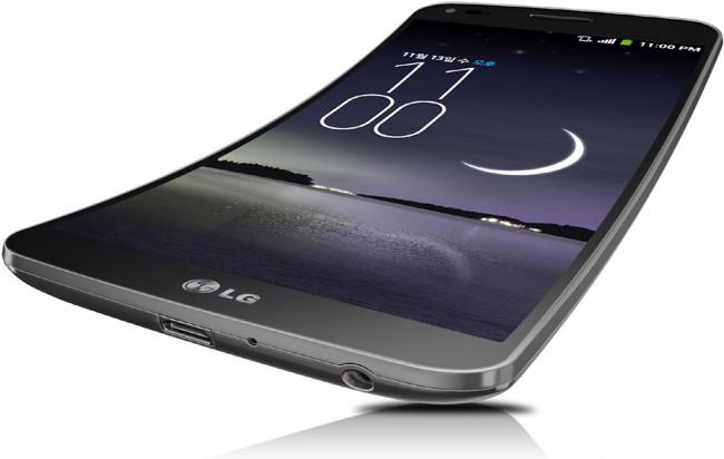 LG G Flex med en buet 6-tommer skjerm